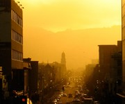 San Francico street sunset