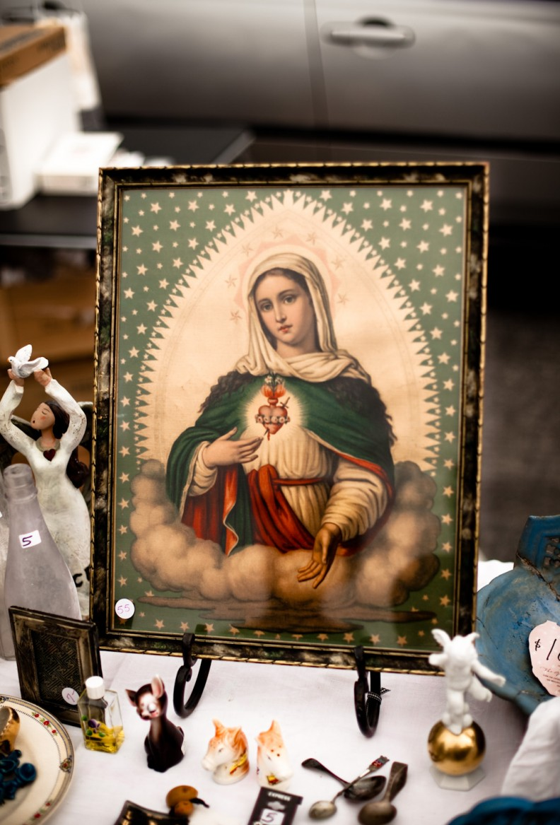 Mary mother of god at the Long Beach flea market